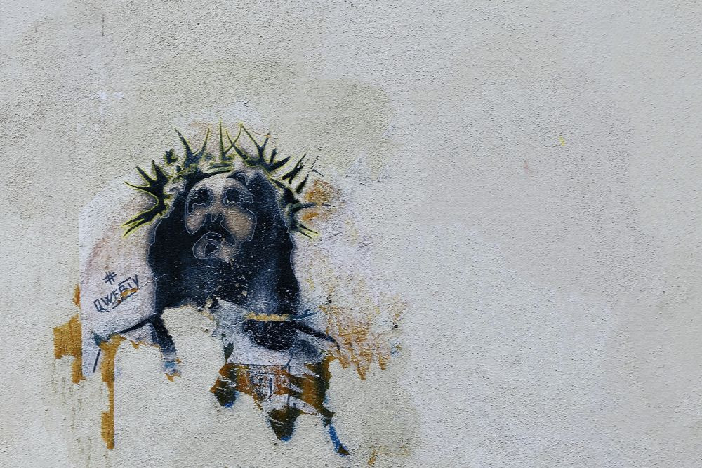 Jesus, Graffiti