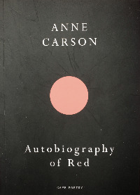 Autobiography of Red, Buchcover